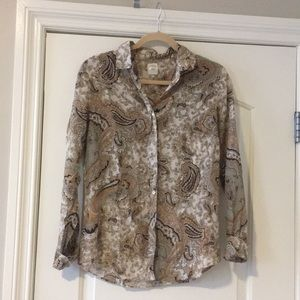 J.Crew cotton silk paisley perfect shirt